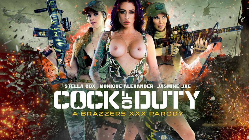 Cock Of Duty: A XXX Parody – Monique Alexander, Danny D, Jasmine Jae & Stella Cox