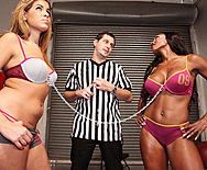 Bra Tug of War - Isis Taylor - Diamond Jackson - 1
