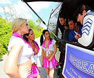 Chesty Cheerleaders Cheat On The Champs - Brooke Brand - Kortney Kane - Daisy Cruz - 1