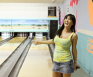 Bowling Bet for Blow Jobs - Claire Dames - 1