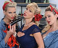 War Wives get Wet - Nikki Benz - Abbey Brooks - Phoenix Marie - 1