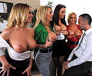 Office 4-Play: Christmas Edition! - Chanel Preston - Krissy Lynn - Nicole Aniston - Tanya Tate - 1