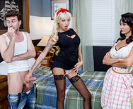 Two Hungry Mouths on His Dick - Ava Addams - Rikki Six - 1