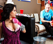 Fucking and Sucking Her Son's Roommate Clean - Kimmy Lee - 1