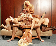 Office 4-play VI - Courtney Taylor - Nikki Benz - Nina Elle - Summer Brielle - 3