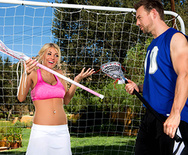 Busty Blonde's Ball Handling Lesson - Kayla Kayden - 1
