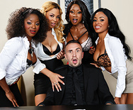 Office 4-Play VII: Ebony Babes - Diamond Jackson - Jasmine Webb - Jade Aspen - Anya Ivy - 1