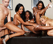Office 4-Play VII: Ebony Babes - Diamond Jackson - Jasmine Webb - Jade Aspen - Anya Ivy - 3