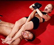 Rowdy Armbar Goes Too Far - Krissy Lynn - 1