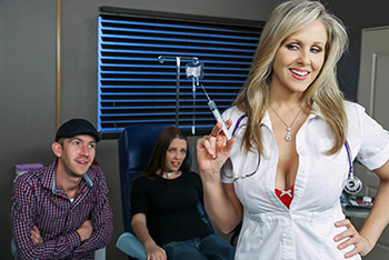 Hot Nurse Gets The Cock Pumpin'