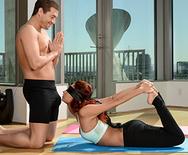 Yoga class porn wagon ride
