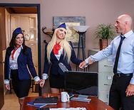 Aerolineas Tittyfuck - Kagney Linn Karter - Kendra Lust - 1